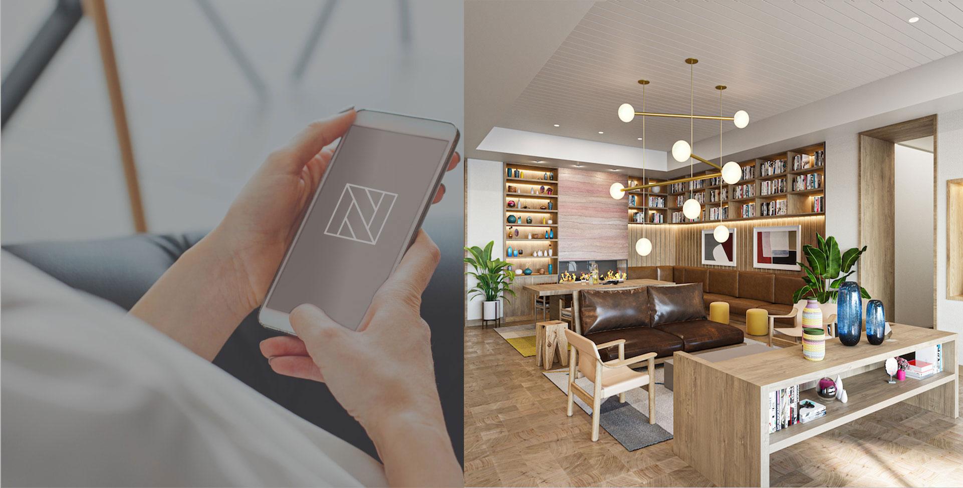 Natiivo Austin's 24/7 concierge service and lobby area